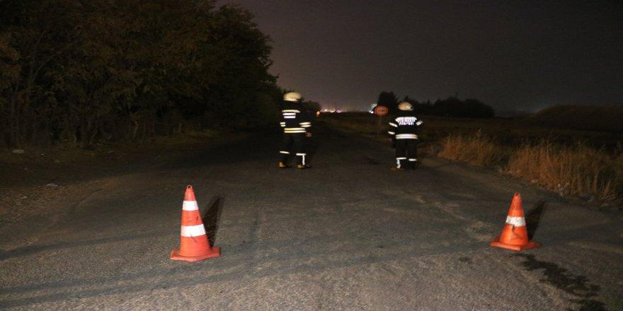Diyarbakır Yenişehir'de doğalgaz ana borusunda kaçak paniğe yol açtı