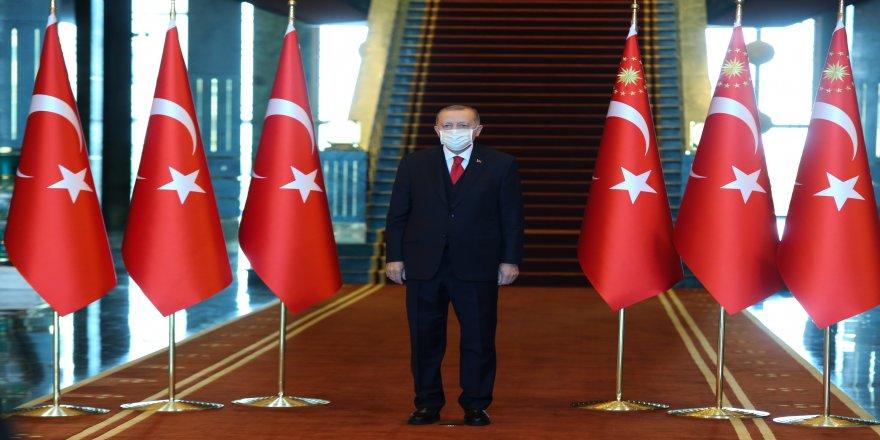 29 Ekim Cumhuriyet Bayramı kapsamında Cumhurbaşkanı Erdoğan, tebrikleri kabul etti