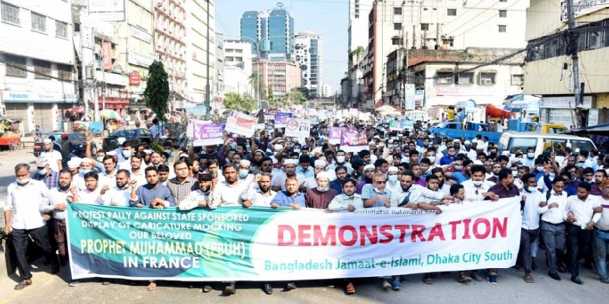 Bangladeş'te, protestolar devam ederken, Fransız ürünlerine boykot çağrısı yapıldı