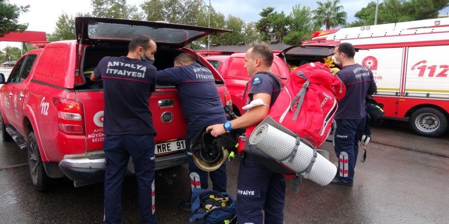 Antalya'dan İzmir'e 17 kişilik arama kurtarma ekibi gönderildi