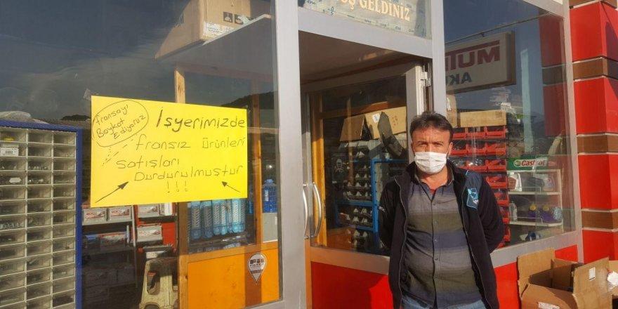 Fransız mallarına, Tokatlı esnaflar'dan boykot