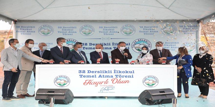 Kayseri Talas'ta 32 derslikli ilkokulun temeli atıldı