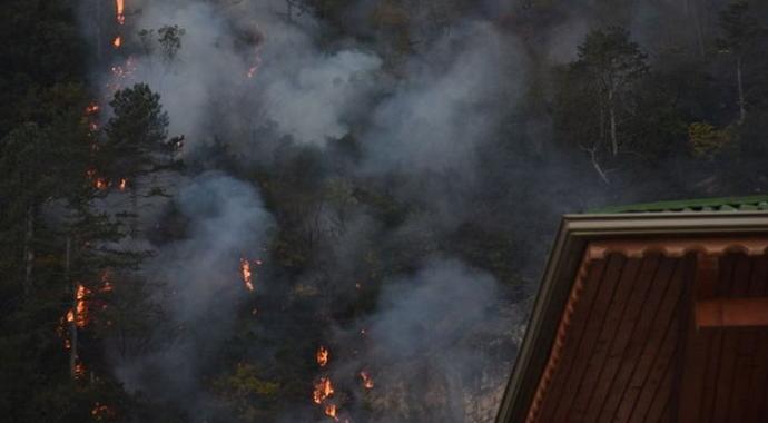Bartın'da Korkutan Orman Yangını