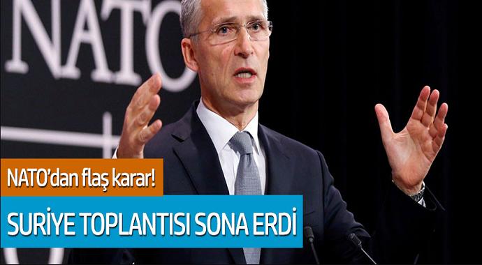 NATO'dan flaş karar! Suriye toplantısı sona erdi