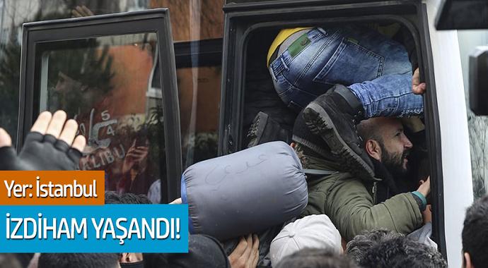 Yer: İstanbul Sığınmacılar İzdiham Yaşattı
