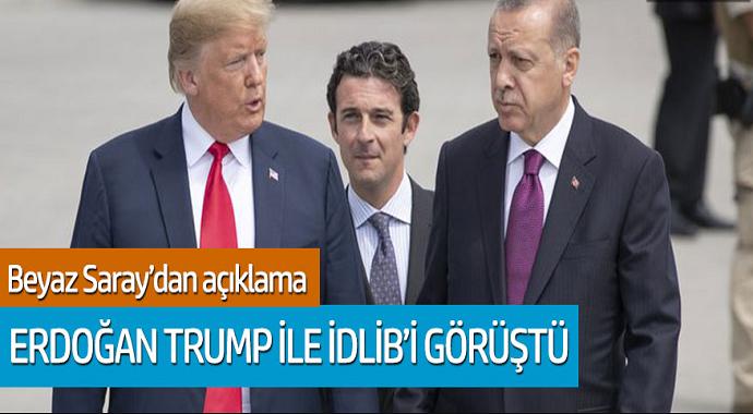Cumhurbaşkanı Erdoğan, Trump ile İdlib'i görüştü...