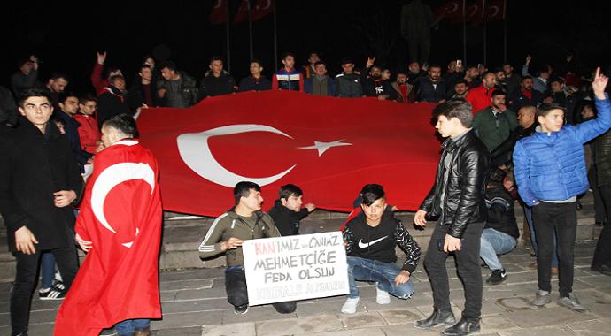 Kırıkkale halkı şehitler için yürüdü