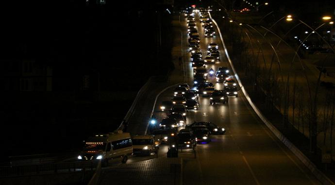 Çankırı'da şehitler için 120 araçlık konvoy