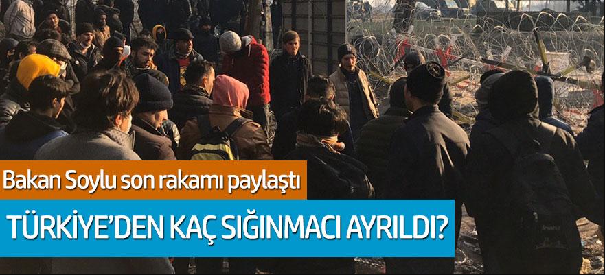 Süleyman Soylu rakamı paylaştı: Türkiye'den kaç sığınmacı ayrıldı?