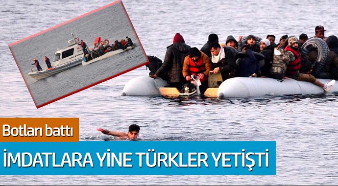 Botları battı imdatlarına yine Türkler yetişti