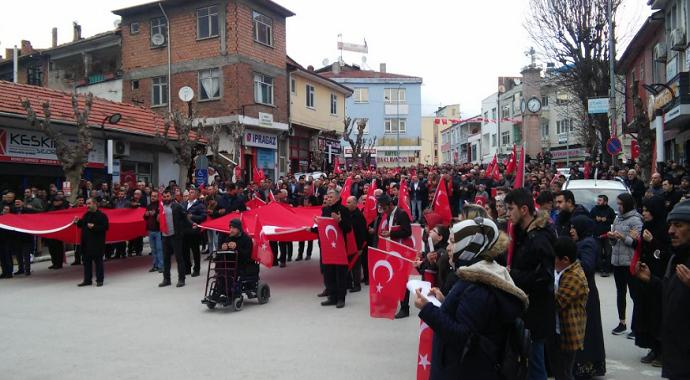 Osmancık'ta Mehmetçiğe destek yürüyüşü