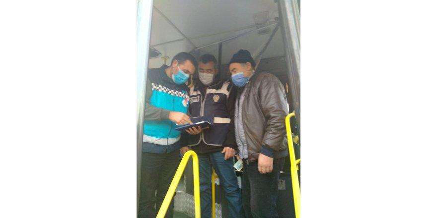 Toplu taşıma araçlarında, İl Sağlık Müdürlüğü HES kodu denetimi arttırdı