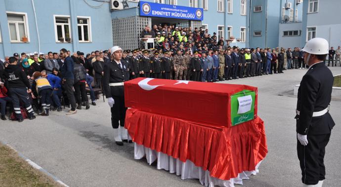 Afyonkarahisar'da hayatını kaybeden polis memuru için tören düzenlendi