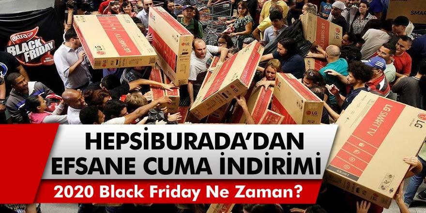 Hepsiburada'dan Efsane Cuma İndirimleri! Black Friday, Hepsiburada Efsane İndirimler Listesi! 2020 Black Friday Ne Zaman?