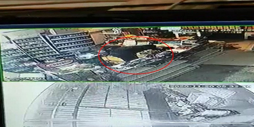 Bursa İnegöl'de, market hırsızı kameralara böyle yakalandı!