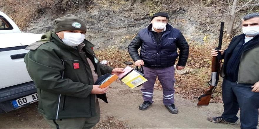 Tokat'ta, avcı belgesi olmadan avlanan şahısa cezai işlem!
