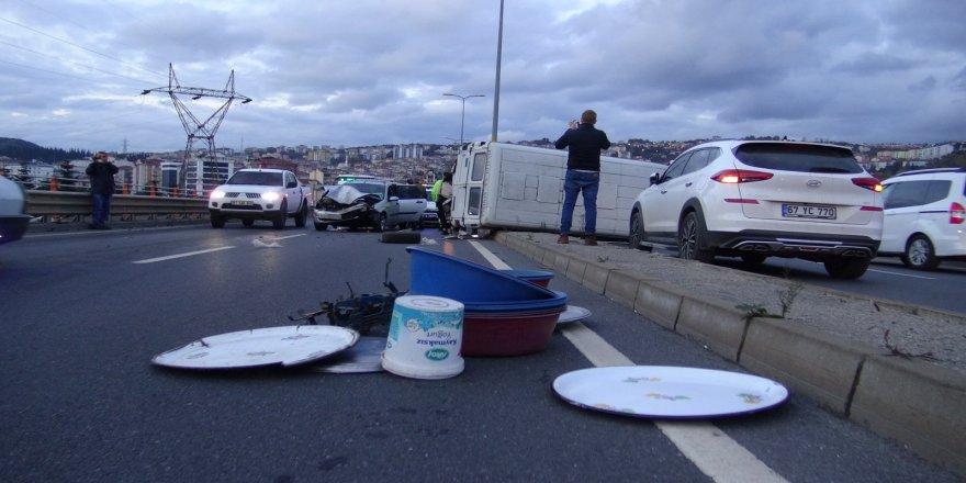 ZonguldaK'ta tarafik kazası; 1 yaralı