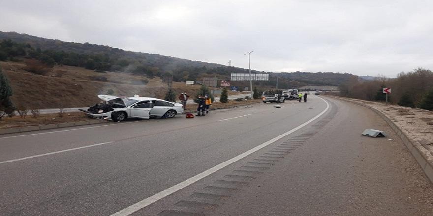 Karabük'te meydana gelen kaza bir diğer kazayı da beraberinde getirdi