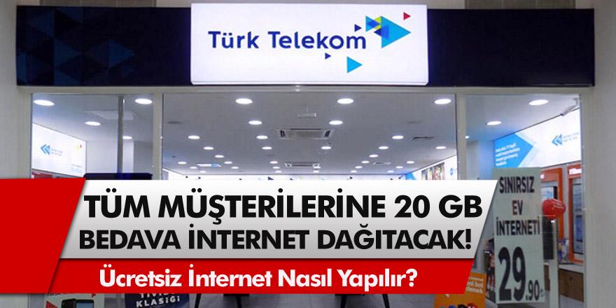 Türk Telekom'dan büyük fırsat: Tüm müşterilerine 20 GB bedava internet dağıtacak! Türk Telekom ücretsiz internet nasıl yapılır?