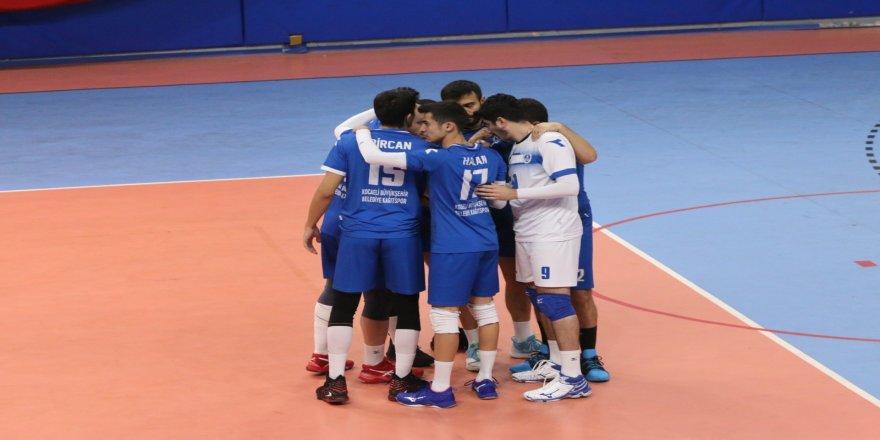 Türkiye Voleybol Federasyonu Erkekler Voleybol 1. Ligi: Kocaeli Belediyesi Kağıtspor: 2 - Konya Büyükşehir Belediyespor: 3