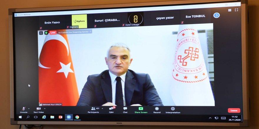 """Kültür ve Turizm Bakanı Mehmet Nuri Ersoy : """"Aşılama programını aralık itibarıyla devreye alıyoruz"""""""