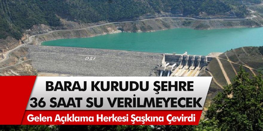 Edirne Belediyesi'nden Şok Açıklama! Baraj Kurudu! Şehre 36 Saat Su Yok!