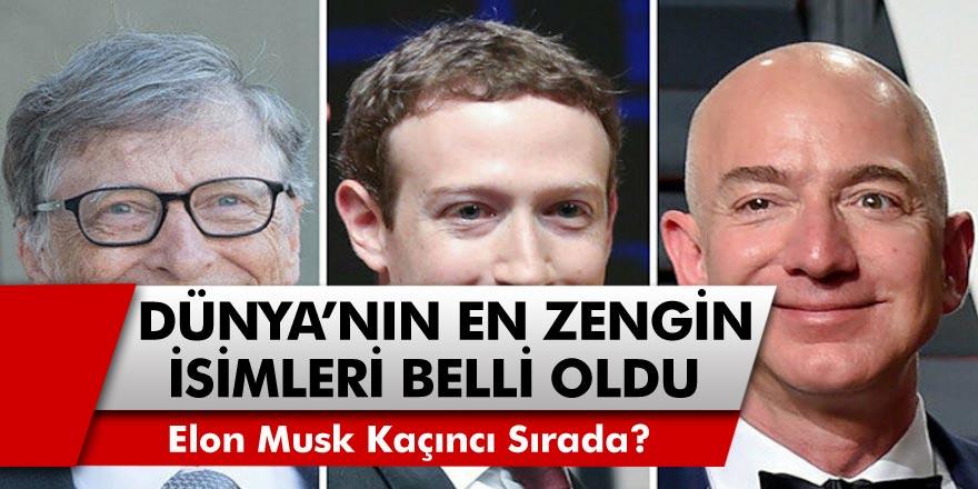Dünyanın En Zenginleri Belli Oldu! Dünyanın En Zenginler Listesinin Birinci Sırasında Yer Alan Jeff Bezos Kimdir? Elon Musk Kaçıncı Oldu?