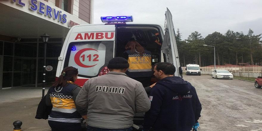 Konya'da bir işçi 6 metre yüksekten düşerek yaralandı