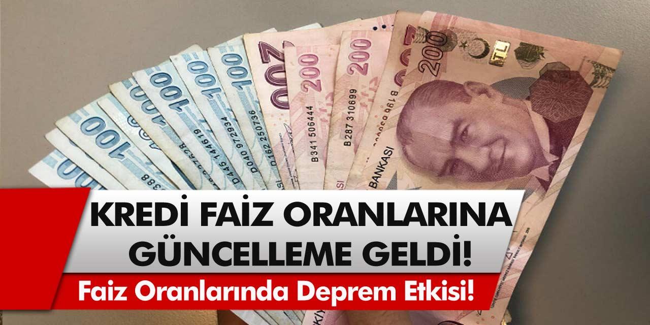 Kredi faiz oranlarına güncelleme geldi! Halkbank, Ziraat Bankası, Vakıfbank ihtiyaç konut kredileri faiz oranları ne kadar oldu?