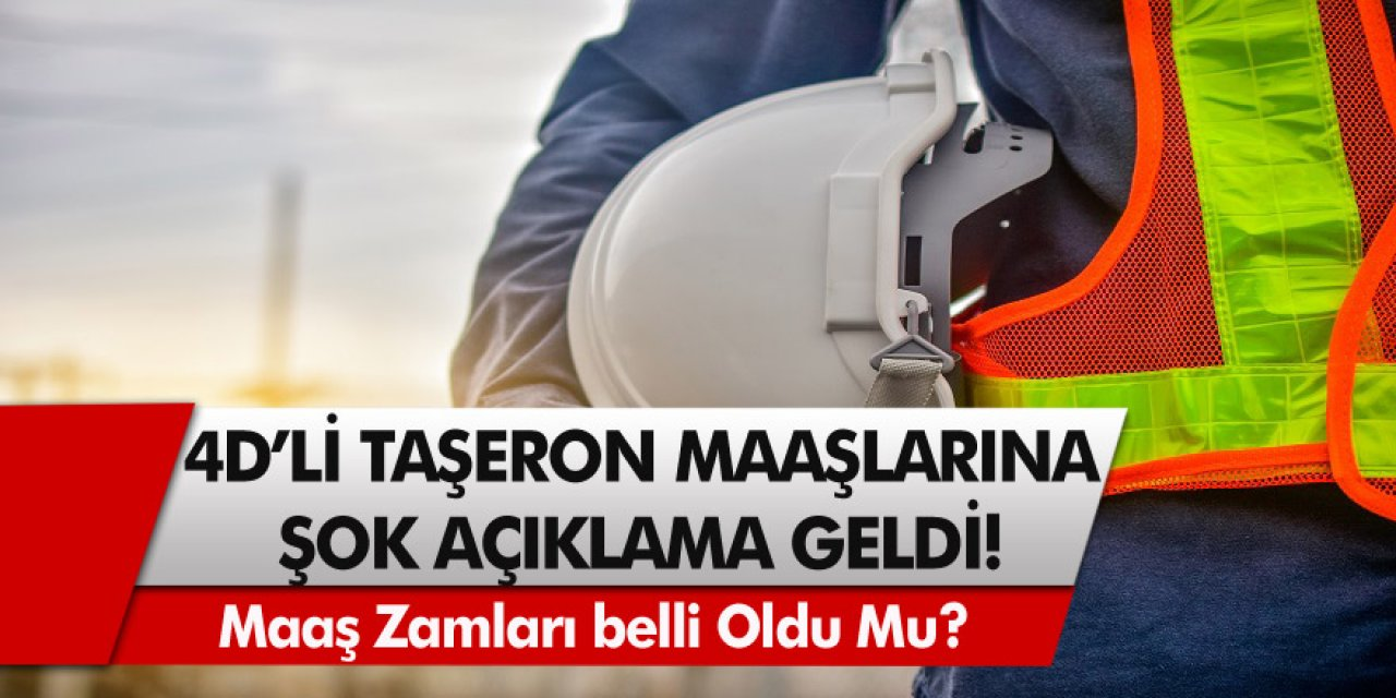 4D'li Taşeron işçiler için beklenen karar: Yüzde 15 maaş zammı sevindirdi! Maaş zamları ne zaman geliyor?