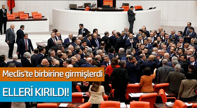 Meclis'te birbirlerine girmişlerdi... AKP'li İbrahim Halil Yıldız'ın eli kırıldı