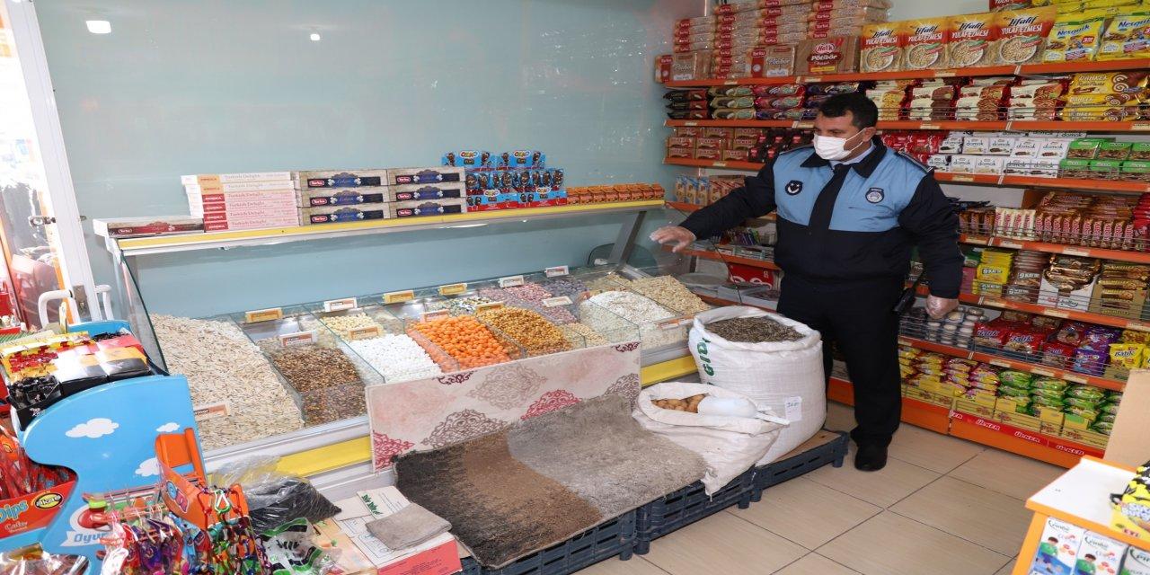 Karaköprü Belediyesi zabıta ekiplerinden  pandemi denetimi