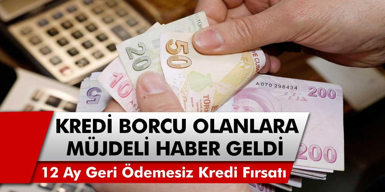 Kredi kartı olan vatandaşlara müjde! 12 ay boyunca geri ödemesiz kredi verilecek…
