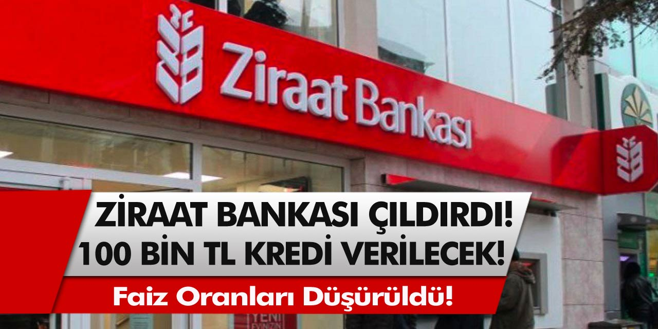Ziraat Bankası Çıldırdı! Faiz Oranları Düşürüldü, Banka Önlerinde Kuyruk Oluştu! Başvuru Rekoru Kırdı...