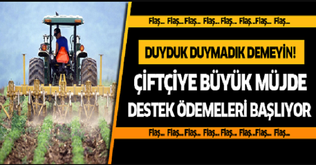 Çiftçiye destek ödemesi ne kadar? Çiftçiye büyük müjde!