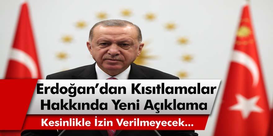 Cumhurbaşkanı Erdoğan'dan Son Dakika Açıklaması: Yılbaşında Otellerde, Villalarda Partilere Kesinlikle İzin Verilmeyecek!