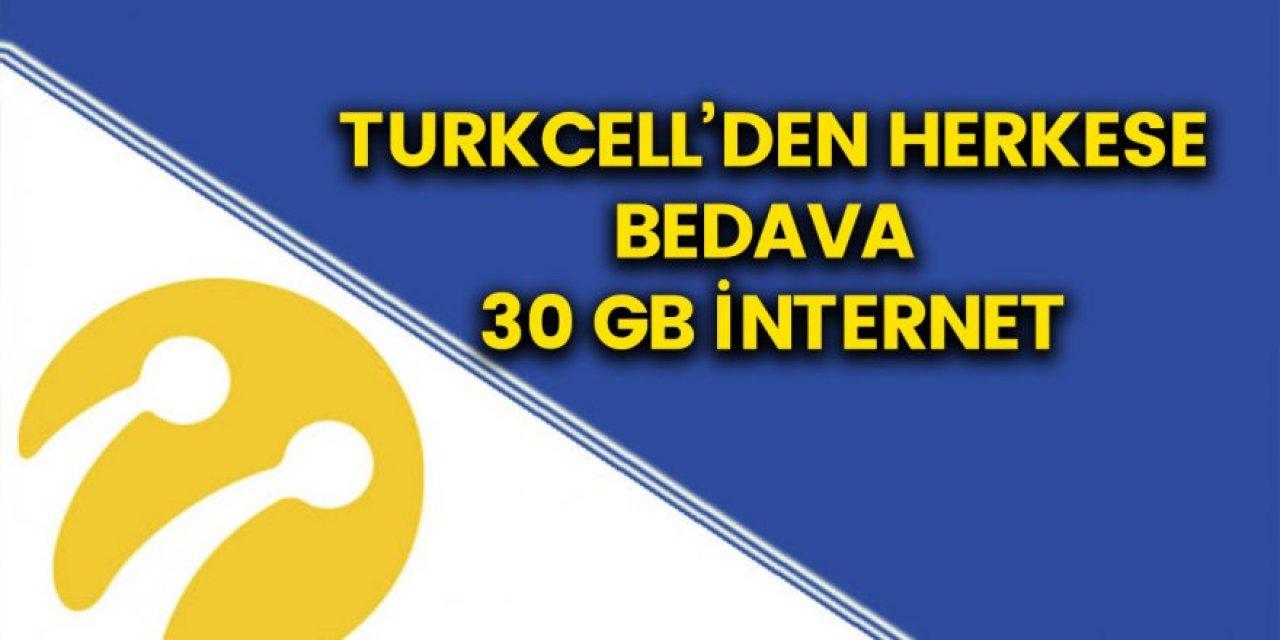 Turkcell'de bedava internet dönemi başlıyor! Kampanyaya katılan herkese 30 GB bedava internet verilecek İşte detaylar...