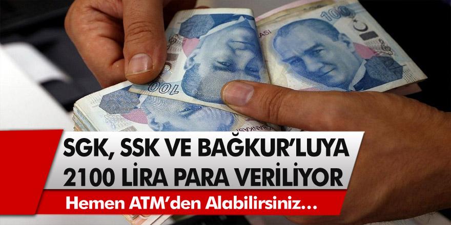 SGK ve Bağkur'lulara nakit desteği yatmaya başladı! Hemen ATM'den alabilirsiniz…