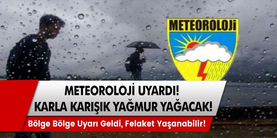 Meteoroloji Genel Müdürlüğü Uyardı! Resmen Felaket Geliyor, Kar Yağacak Yerler Tek Tek Açıklandı!