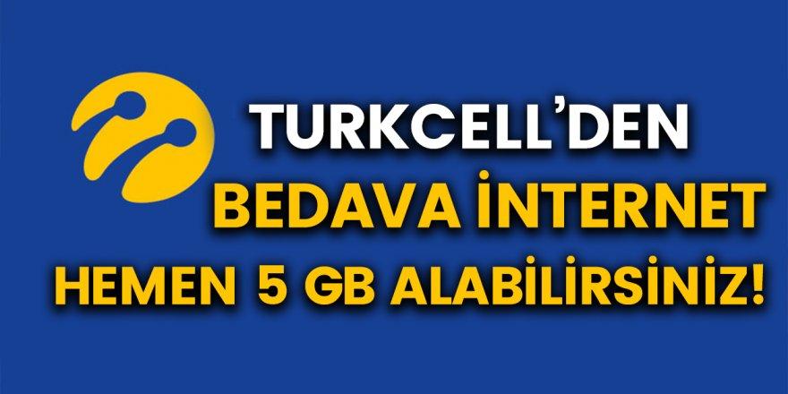 Turkcell'den tüm abonelerine bedava internet! Başvuru yapan herkese 5 GB hediye internet verilecek…