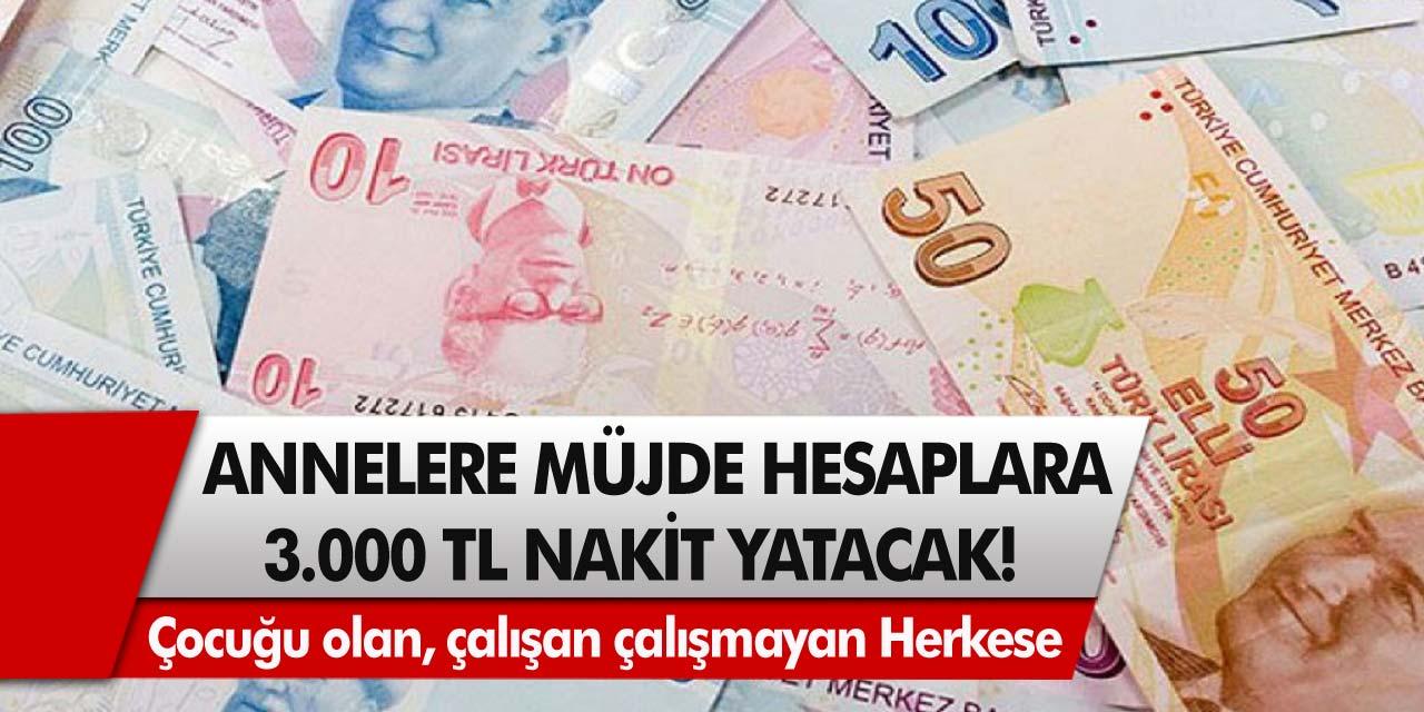SGK'dan müjde:Çocuğu olan, çalışan – çalışmayan tüm annelere 3 bin TL ödeme yapılacak!