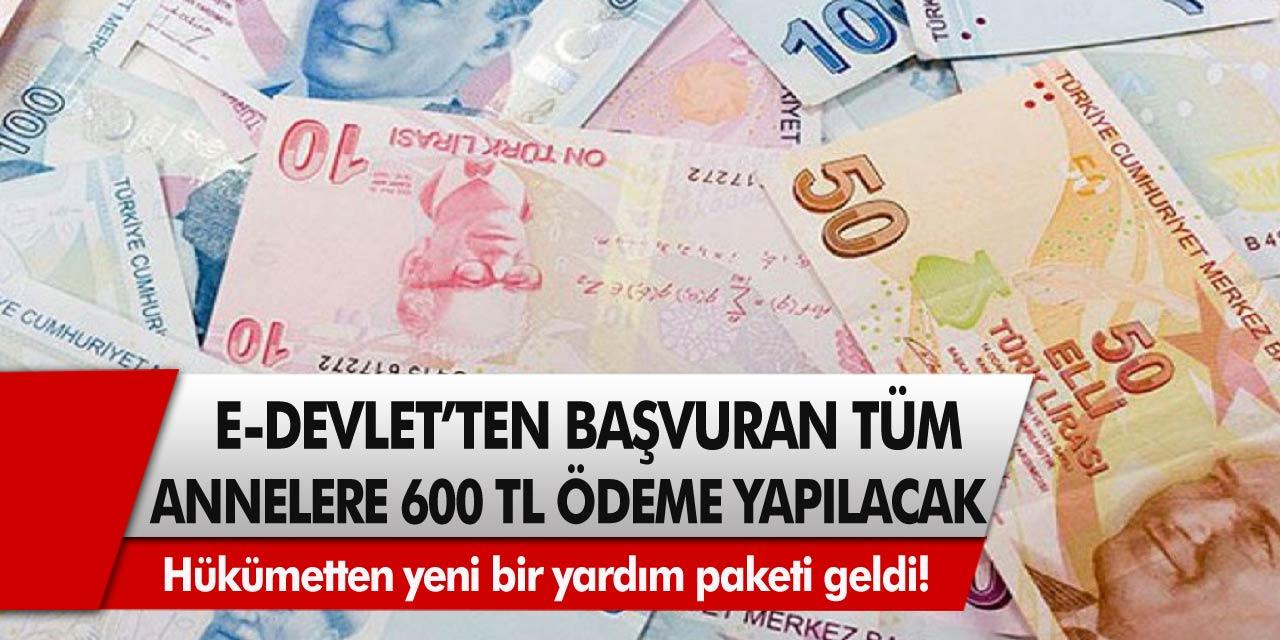Hükümetten yeni bir yardım paketi geldi! E-devlet başvurusu yapan tüm annelere 600 TL anında ödeme yapılacak...