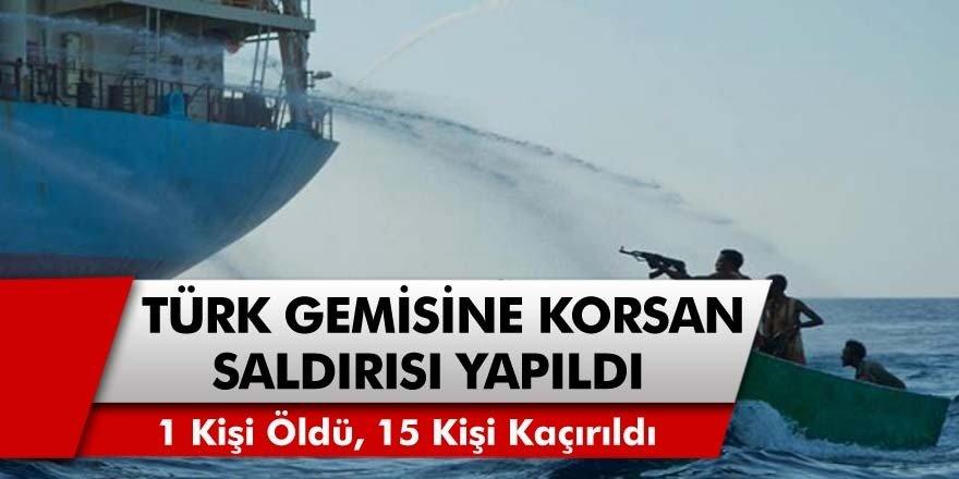 Atlas Okyanusu'nda Türk Gemisine Korsanlar Tarafından Saldırı! 1 Gemici Öldürüldü, 15 Kişi Kaçırıldı!
