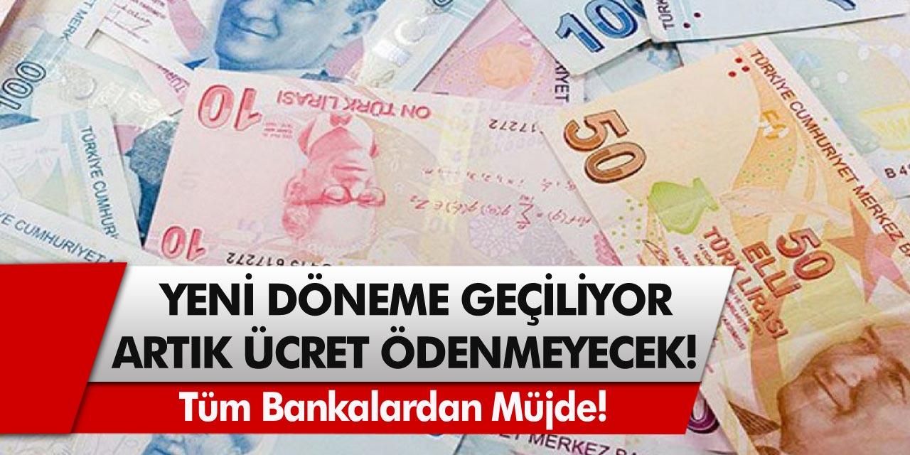 Ziraat Bankası, Vakıfbank, PTT ve Halkbank hesabı olanlar dikkat! Yeni döneme geçiliyor, artık ücret ödenmeyecek…