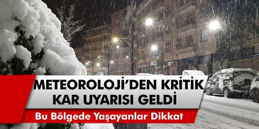 Bu Bölgede Yaşayanlar Dikkat! Meteoroloji'den Kritik Kar Uyarısı Geldi Saat Verildi, Hazır Olun….