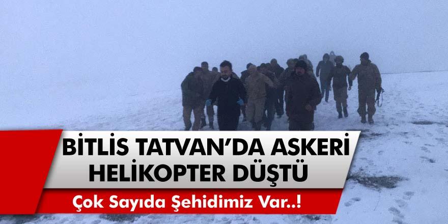 Acı Haber Az Önce Geldi! Bitlis'te Askeri Helikopter Düşmesi Sonucu 11 Askerimiz Şehit Oldu
