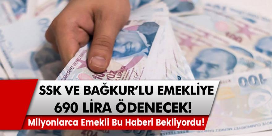 Milyonlarca emekli bu haberi bekliyordu! Ek Ödeme İmkanı Geliyor! SSK ve Bağkur'lu emekliye 690 lira ödenecek!