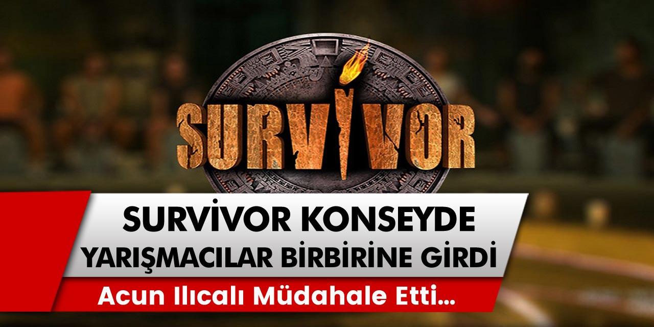 Survivor'da şok gelişme! Survivor konseyde yarışmacılar biri birine girdi, Acun Ilıcalı müdahale etti…