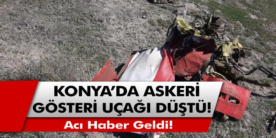 Son Dakika! Konya'da Türk Yıldızları'na ait askeri gösteri uçağı düştü, Acı Haber Geldi!