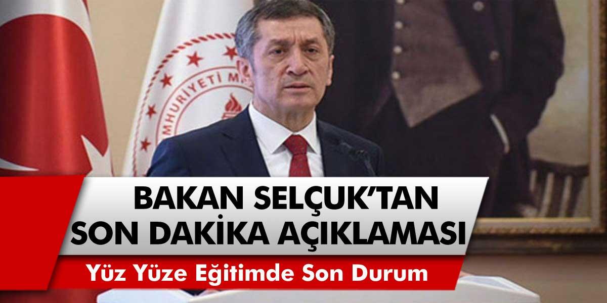 SON DAKİKA: Milli Eğitim Bakanı Selçuk'tan 'okullar kapanacak mı' sorusuna Cevabı...